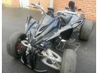 ROAD LEGAL...250CC RACE QUAD. WITH SET OF 4 NEW TYRES .