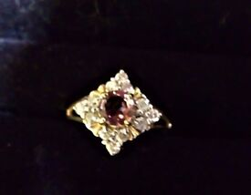 pink tourmaline and diamond ring with video link