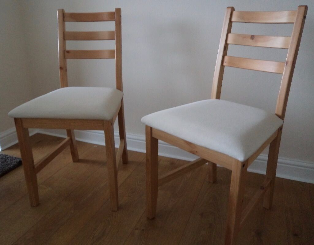 Ikea lerhamn chairs in east kilbride glasgow gumtree for Dining chairs t k maxx