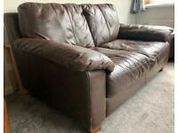 Brown leather suite (3 seater & 2 seater)