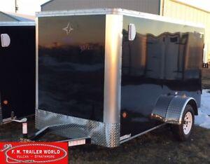 2017 Royal Cargo 5x10 LT   Barn Door   Cargo/Enclosed   Black