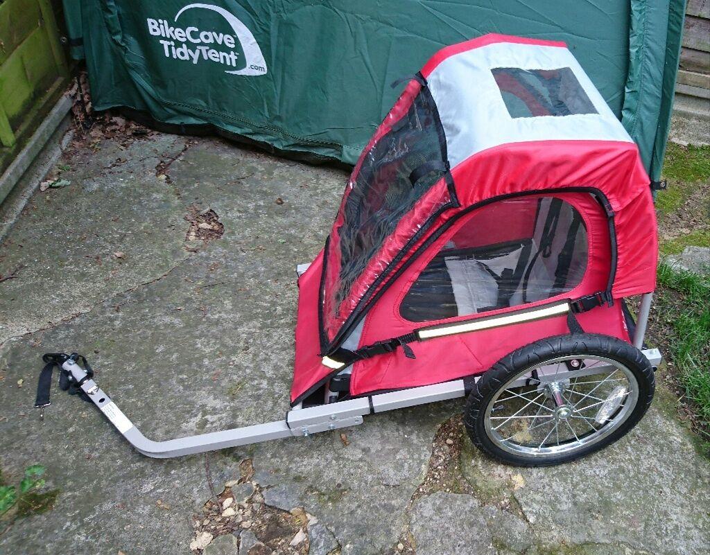 Halfords Single Buggy Child Bike Trailer Very Good