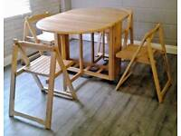 JOHN LEWIS ADLER BUTTERFLY DROP LEAF FOLDING DINING TABLEAND 4 CHAIRS