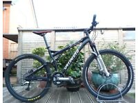 "Specialized XC Pro Stumpjumper Mountain XC Bike Full Suspension - 18"" Medium Frame - FULL LOCKOUT"