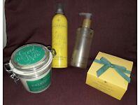 CHAMPNEYS Detox salt scrub + Citrus blush body butter & spray & hand wash