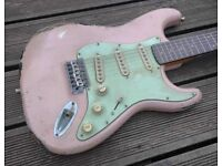 Shell Pink Stratocaster Relic - Partscaster
