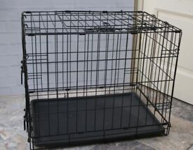 Small to Medium Folding Dog Cage / Crate with Removable Base, Top & Side Doors