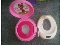 Minnie mouse musical training potty and toilet seat