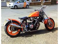 1981 Yamaha FZR 750 custom made classic rigid/hard tail chopper bobber FULL MOT