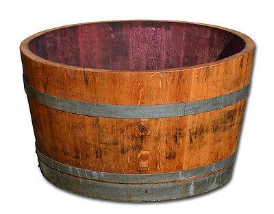 Tonneau en bois,cuve coupé en deux,fût de chêne,tonneaux de vin