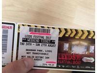 2 x Leeds Festival 2017 Bramham Park Eminem Muse Kasabian