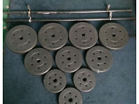 52.5kg Barbell and Vinyl Weights Set