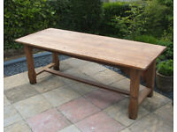 Refectory Table - Antique - 6ft - Solid Old Pine - Dining Table - Horfield