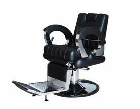 NEW HEAVY DUTY REAL LEATHER BLACK HADI® UK BARBER CHAIR BC-30,CASH ON COLLECTION