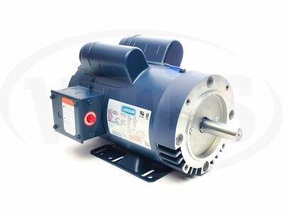120554c 5 Hp Leeson Electric Motor Wc-face 230v 1ph 3450 Rpm 145tc 120554