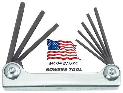 Bondhus Classic Steel Hex Fold Up Wrench Set Torx T6-T25 USA Made Metal 14532 Bondhus Steel Hex Wrench
