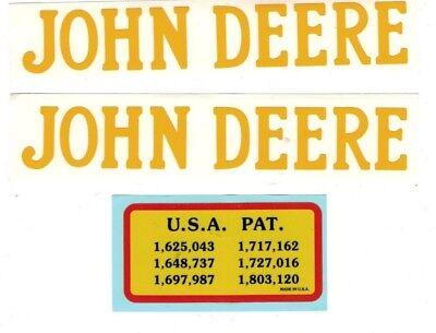 3 Hp John Deere Gas Engine Motor 3 Piece Decal Set Hit Miss Flywheel Antique