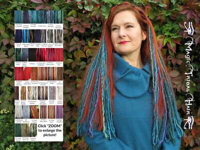 DREADS EXTENSIONS 2 clip ins MANY COLOURS Dreadlocks TRIBAL FUSION Belly Dance](Clip In Dreadlock Hair Extensions)