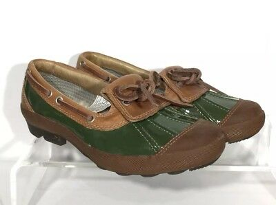 NWOB UGG Australia Ashdale Duck Shoes Patent Leather Green Tan 1898 US 5 / EU 36 for sale  Tinley Park