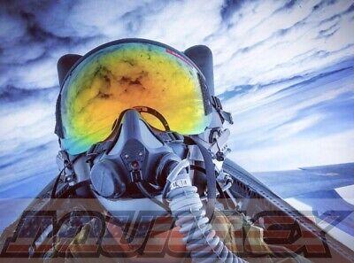 HGU Flight Helmet GOLD Mirror Visor(4.0 Generation)