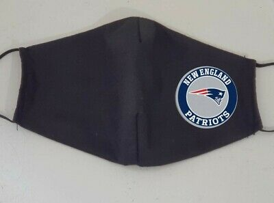 Lot of 2-New England Patriots Face Mask, Black, Adult Unisex, Adjustable