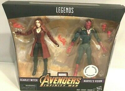Hasbro Marvel Legends Avengers Infinity War TRU Scarlet Witch Vision 2 Pack  NEW