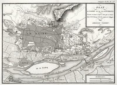 Kairo, und Umgebung , Ägypten, Kupferstich von Ambroise Tardieu von 1806