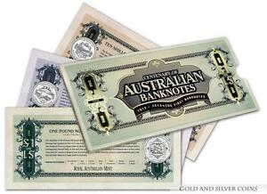 2013 RAM 20c and 50c Unc Three Coin Set - Centenary of Australian Banknotes