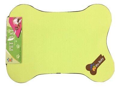 Bone Shaped Dog Bed - Pet Bed Cage Mat Pad Dog Colorful Antibacterial Bone Shaped Sleeper Green 25x19