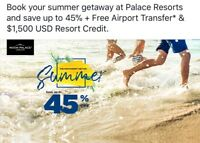 DISCOUNT PALACE RESORTS Mexico or Jamaica