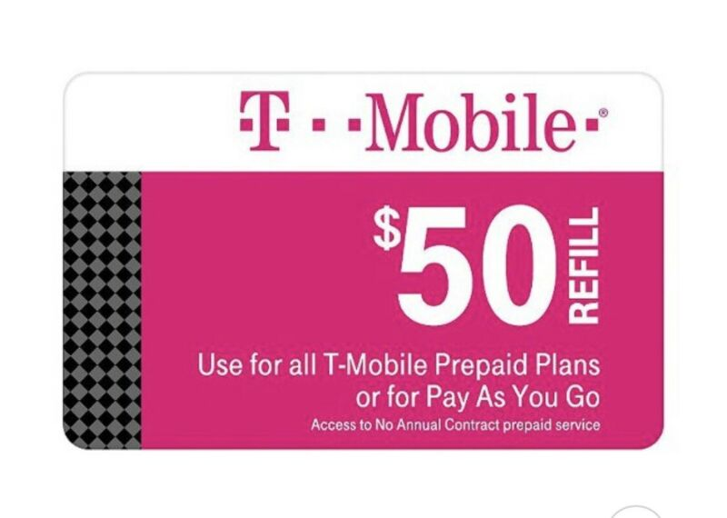 T-Mobile Prepaid $50 Refill Card (Direct) FAST REFILLS!! SALE!!