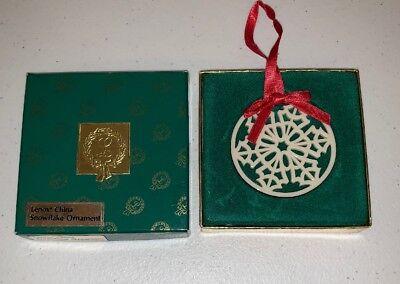 (Lenox China Snowflake Ornament )