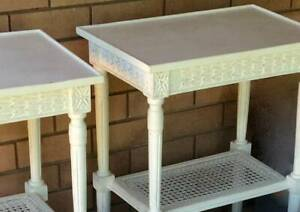 QUICK SALE 2 Hand-Painted Occasional Tables /  Bedside Tables