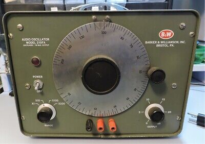 Barker Williamson Bw Model 210fa Audio Oscillator
