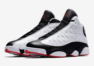 2018 Air Jordan Retro 13 XIII He Got Game Black White Red 414571-104 Size 8-14 ()
