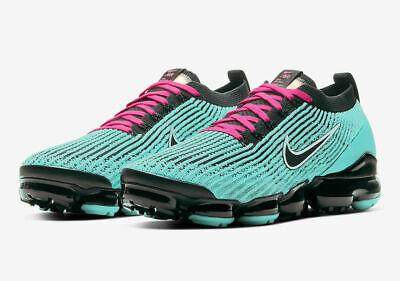 Nike Air Vapormax Flyknit 3 Shoes South Beach 'Miami Vice' AJ6900-323 Men's NEW