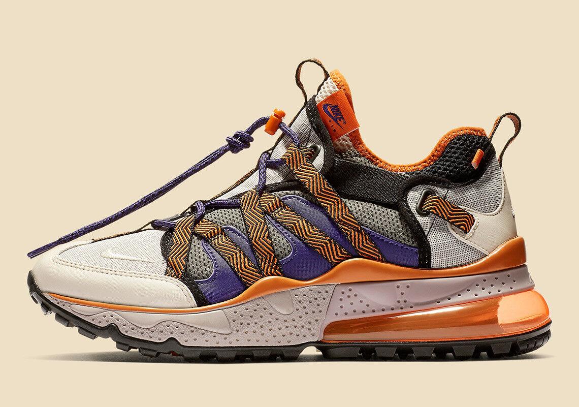 """New Nike Men's Air Max 270 BOWFIN """"Mowabb"""" Shoes (AJ7200-201)  Pumice/Cin Orange"""