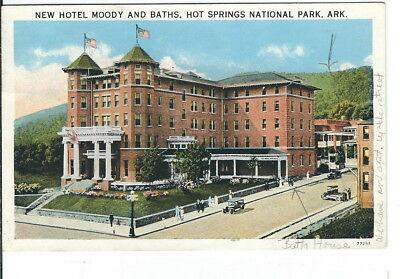 Cb 151 Ar  Hot Springs National Park New Hotel Moody Baths White Border Postcard