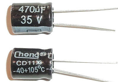 E-projects - 470uf 35v 105c Radial Electrolytic Capacitor 5 Pcs