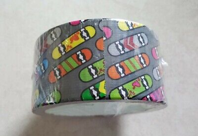 Printed Duct Tape Skateboards Dark Grey 1.88 Inch 10 Yards