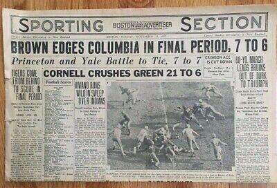 VINTAGE NEWSPAPER SPORTS SECTION THE BOSTON SUNDAY ADVERTISER, NOVEMBER 13, 1932