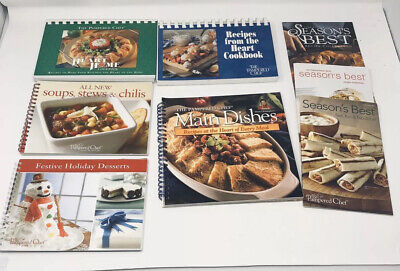 PAMPERED CHEF Recipe Books Lot of 8 Seasons Best Main Dishes Holiday Heart