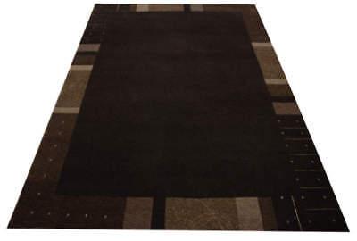 Teppich Premium Nepal 6 Größen 100% Wolle mit Seide schoko braun meliert  - 6' Wolle Teppich