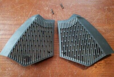Mercedes W123 300D OEM Pair Of Front Dash Outer Speaker Covers (Mercedes 300d Dash Covers)