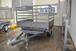 8x7 Tandem Flat Top Trailer with 3 Fixed Sides Pooraka Salisbury Area Preview