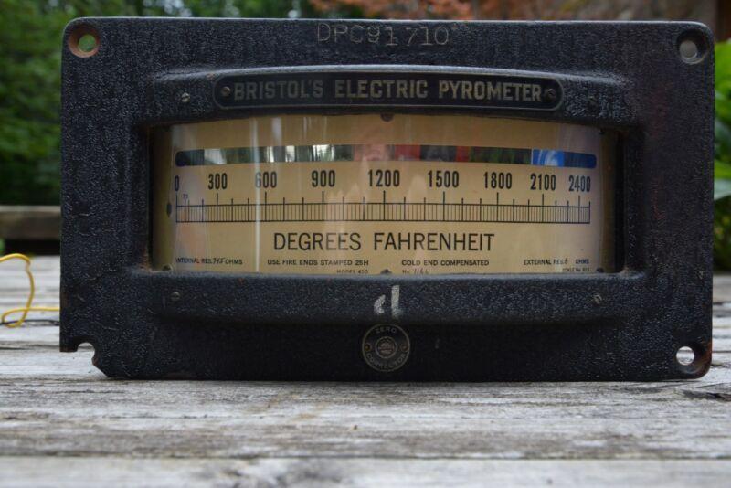Vintage BRISTOL Electric Pyrometer
