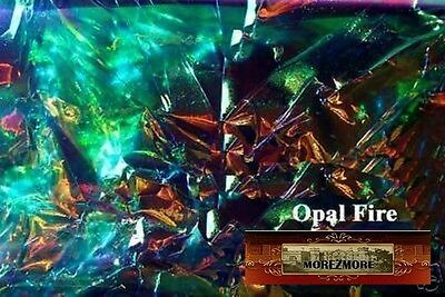 M00262 MOREZMORE Angelina Fantasy Film OPAL FIRE BLUE Heat Bondable 10' T20A