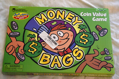 Learning Resources Money Bags Coin Value Educational Board Game New Sealed - Learning Money Games