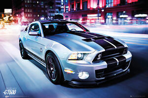 SHELBY MUSTANG GT500 - 2014 POSTER 24x36 - SPORTS CAR FORD 33949