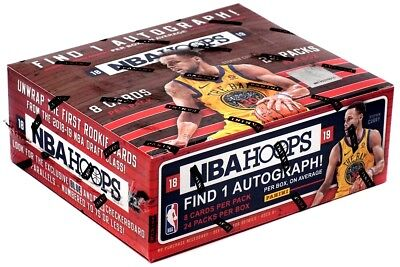 2018/19 Panini Hoops Basketball 24 Pack Box FACTORY SEALED 1 AUTO PER BOX (Basketball 24 Pack Box)
